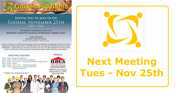 Next Golden Providers Meeting