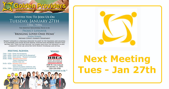 January 2015 Golden Providers Meeting