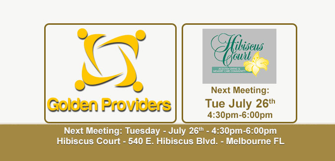 Golden Providers - July 2016 Meeting