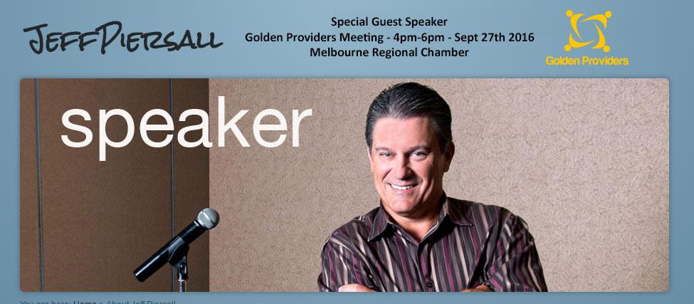 Jeff Piersall - Guest Speaker