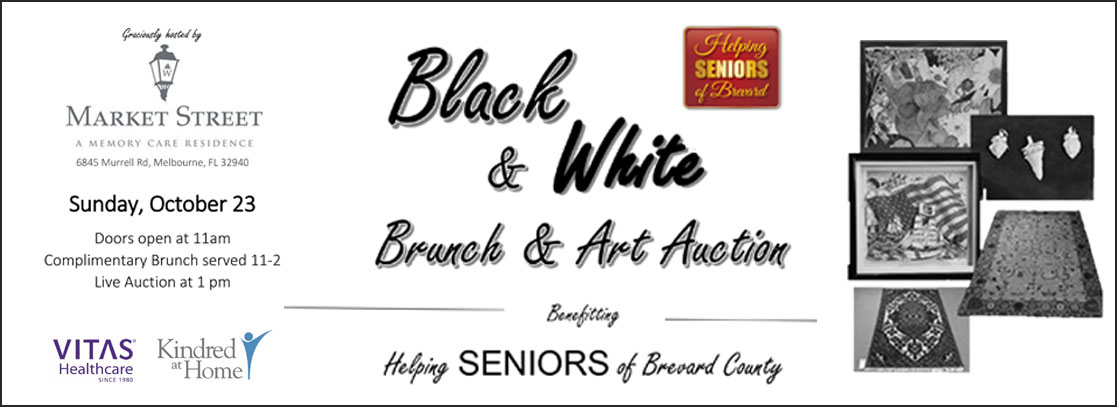 Helping Seniors Black & White Brunch & Art Auction